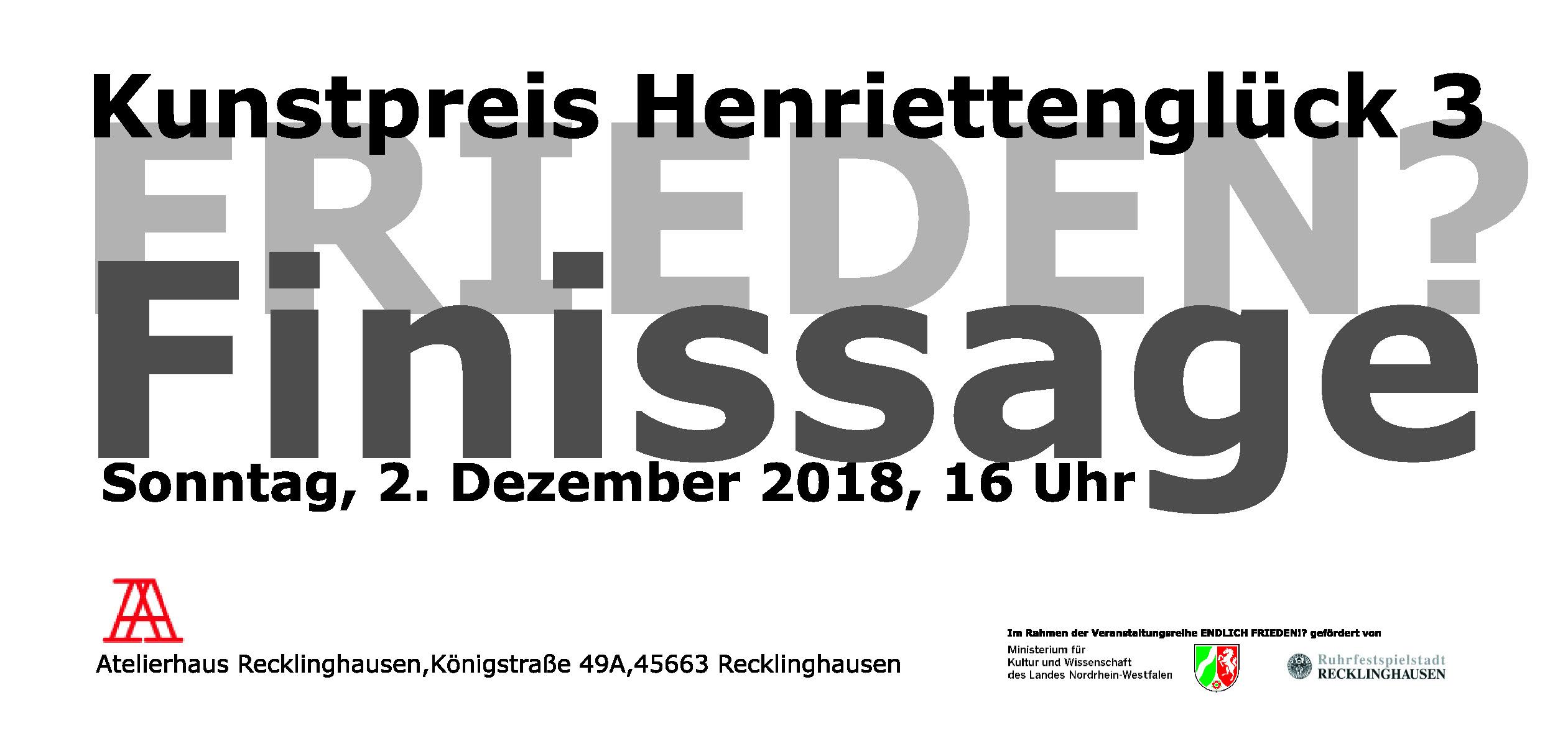 Ausschreibung Henriettenglück